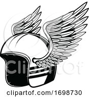 Winged Biker Helmet
