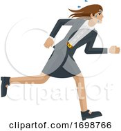 Business Woman Stress Tired Running Concept