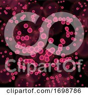 Abstract Medical Background With Virus Cells