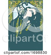 Poster, Art Print Of Viking Man Drinking From A Horn