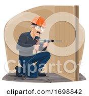 Carpenter Using A Power Drill