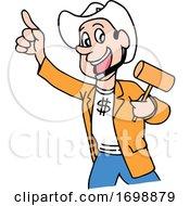 Cartoon Cowboy Auctioneer by LaffToon