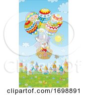 Bunny Rabbit In An Easter Egg Hot Air Balloon