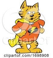 Cartoon Super Hero Cat Mascot