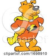 Cartoon Super Hero Dog Mascot