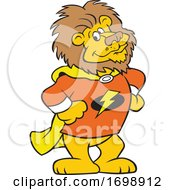 Cartoon Lion Super Hero Mascot by Johnny Sajem