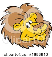 Cartoon Lion Mascot Face