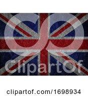 Grunge Union Jack Flag Background