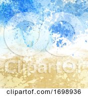 Beach Themed Watercolour Texture Background