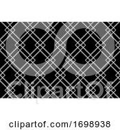 Poster, Art Print Of Black And White Diamond Pattern Background