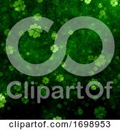 Grunge Clover Background For St Patricks Day