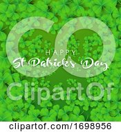 Happy St Patricks Day Background With Clover