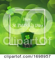 St Patricks Day Background With Top Hat And Shamrock 2001