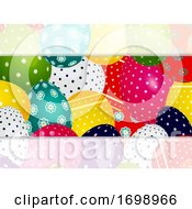Close Up Decorated Easter Eggs Panel