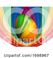 Poster, Art Print Of Striped Easter Egg Over Striped Panel