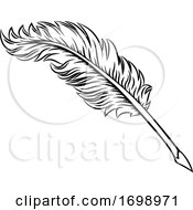 Quill Feather Ink Pen Icon Illustration by AtStockIllustration