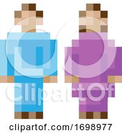 Woman Man Male Female Icon Pixel 8 Bit Game Art