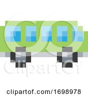 Poster, Art Print Of Bus Coach Pixel 8 Bit Video Game Art Icon