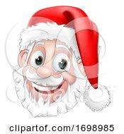 Santa Claus Face Christmas Cartoon Character