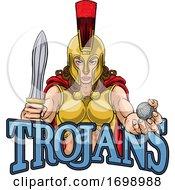 Spartan Trojan Gladiator Golf Warrior Woman