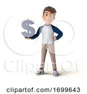 03/17/2020 - 3d White Boy On A White Background