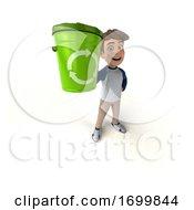 03/21/2020 - 3d White Boy On A White Background