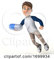3d White Boy On A White Background