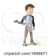 03/24/2020 - 3d White Boy On A White Background