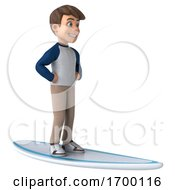 03/27/2020 - 3d White Boy On A White Background
