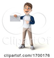 3d White Boy On A White Background by Julos