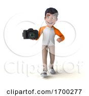 3d Indian Boy, on a White Background by Julos #COLLC1700277-0108