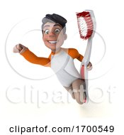 3d Indian Boy On A White Background