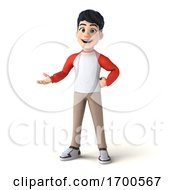 3d Asian Boy On A White Background by Julos
