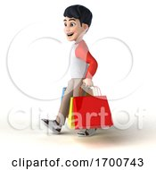 03/17/2020 - 3d Asian Boy On A White Background