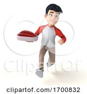 Poster, Art Print Of 3d Asian Boy On A White Background