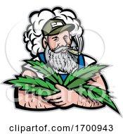 American Hemp Farmer Mascot by patrimonio