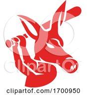 Aardvark Baseball Player Batting Mascot