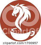 Poster, Art Print Of Unicorn Head Smoke Coffee Cup