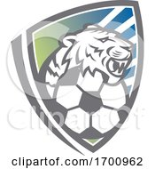Tiger Head Soccer Ball Shield