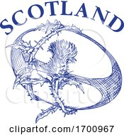 Rugby Ball Thistle Scotland