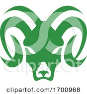 Bighorn Sheep Ram Head Front Icon