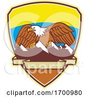 Bald Eagle And Mountains Badge