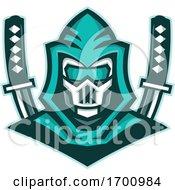Cyborg Ninja Samurai Sword Mascot
