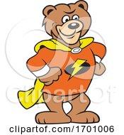 Cartoon Super Hero Bear Mascot
