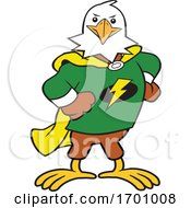 Cartoon Super Hero Bald Eagle Mascot