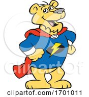Cartoon Super Hero Puma Mascot