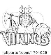 Poster, Art Print Of Viking Female Gladiator Basketball Warrior Woman
