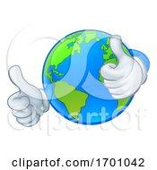 Poster, Art Print Of Earth Globe World Cartoon Character Mascot