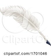 Quill Feather Ink Pen Cartoon Illustration