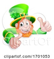 Leprechaun St Patricks Day Cartoon Thumbs Up Sign
